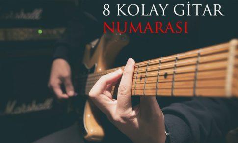 8 Kolay (ve havalı) Elektro Gitar Numarası